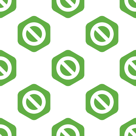 six web website: NO sign pattern