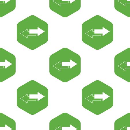oppos: Motif de fl�ches droite oppos�e Illustration