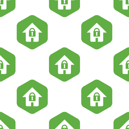 six web website: Locked house pattern Illustration