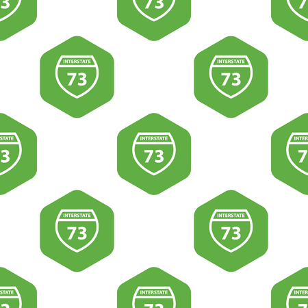 interstate: Interstate 73 pattern Illustration