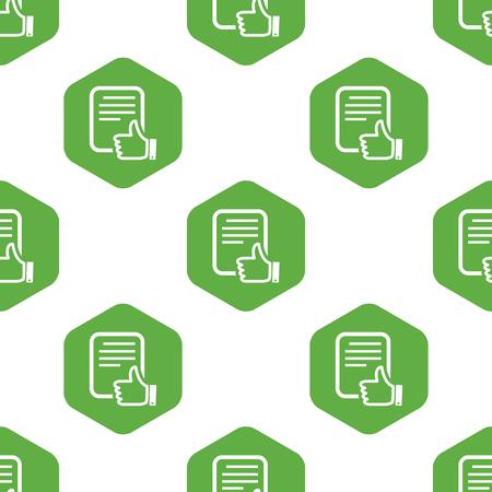 Good document pattern Vector