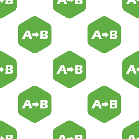 A to B pattern Illustration