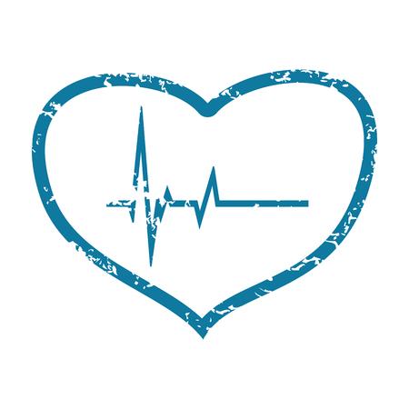 beating: Beating heart grunge icon