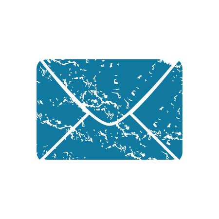 grungy email: Envelope grunge icon