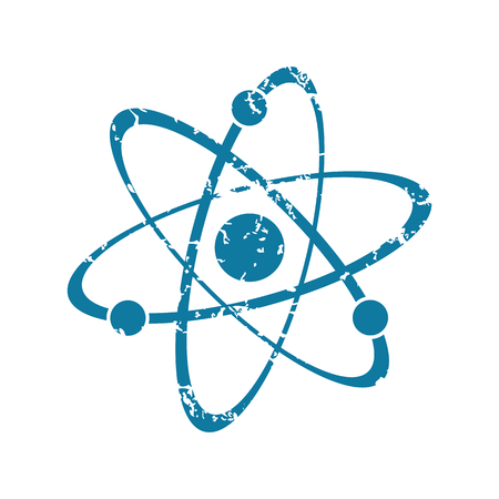 atom: Atom grunge icon Illustration