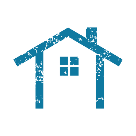 housetop: Simple house grunge icon