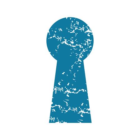 chink: Keyhole grunge icon
