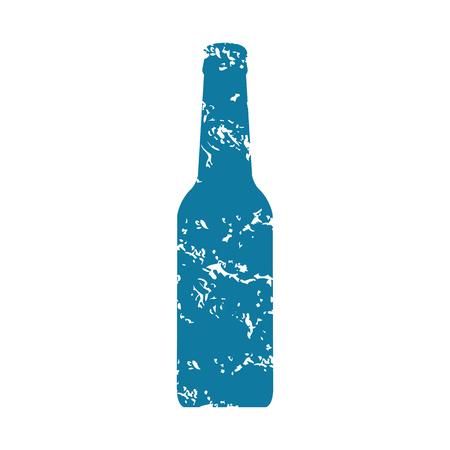 grunge bottle: Bottle grunge icon