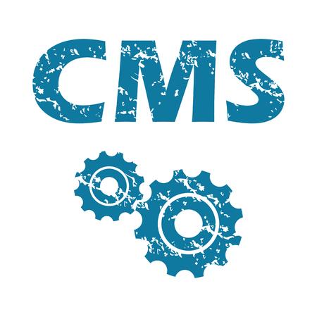 cms: CMS grunge icon