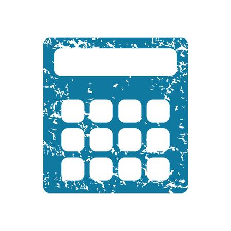 Calculator grunge icon Vector