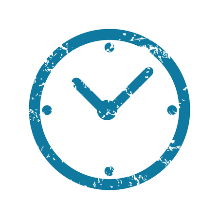 unclean: Grunge clock icon Illustration