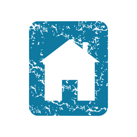 housetop: Grunge house sign icon Illustration