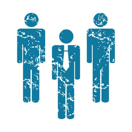 workteam: Grunge workteam icon Illustration