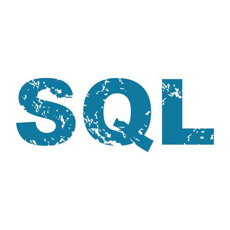 sql: Grunge SQL icon