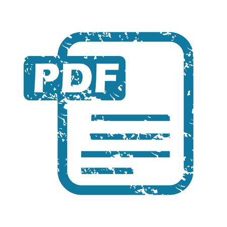 pdf: Grunge pdf file icon