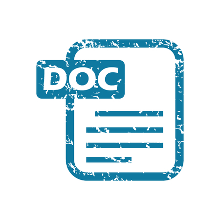 doc: Grunge doc file icon