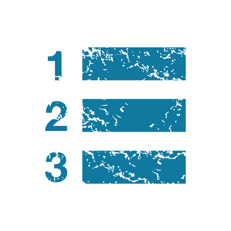 enumerated: Grunge numbered list icon Illustration