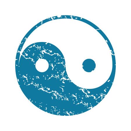 ying: Grunge ying yang icon