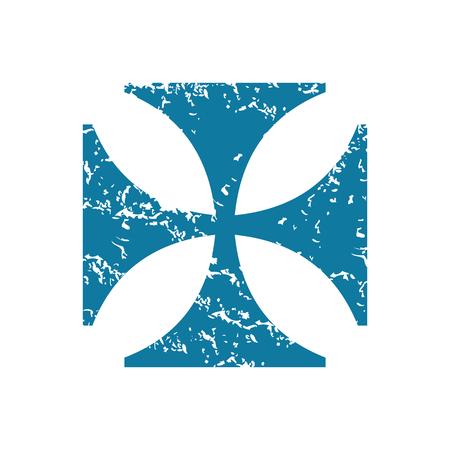 grunge cross: Grunge maltese cross icon Illustration