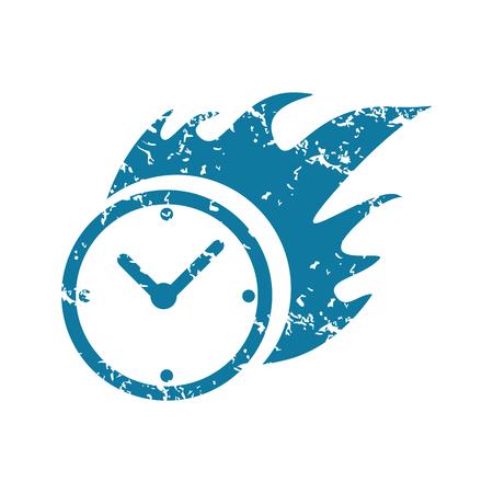 bounds: Grunge burning clock icon