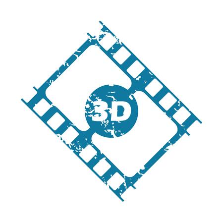 3d: Grunge 3d strip icon