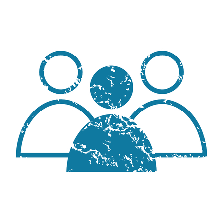 conversation icon: Grunge conversation icon Illustration