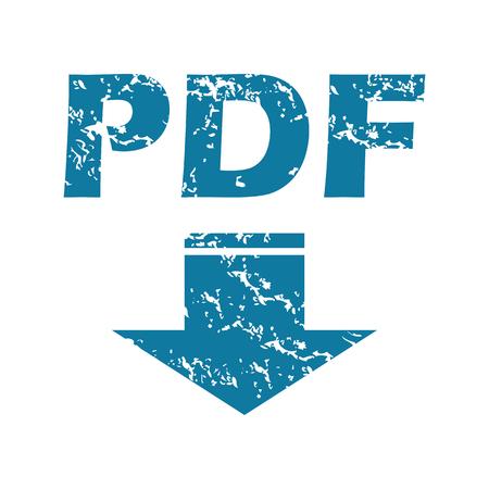 tearing down: Grunge pdf download icon