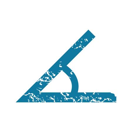 Grunge angle icon Illustration