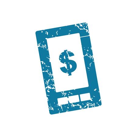 screen: Grunge dollar on screen icon Illustration