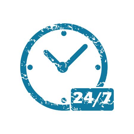 24: Grunge 24 per 7 icon