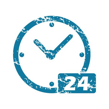 twenty four hour: Grunge 24 workhours icon