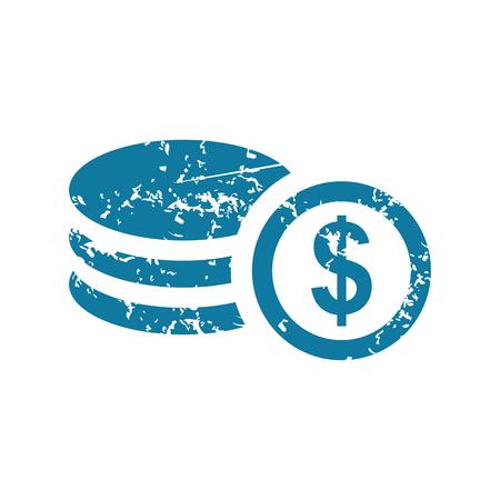 rouleau: Grunge dollar rouleau icon