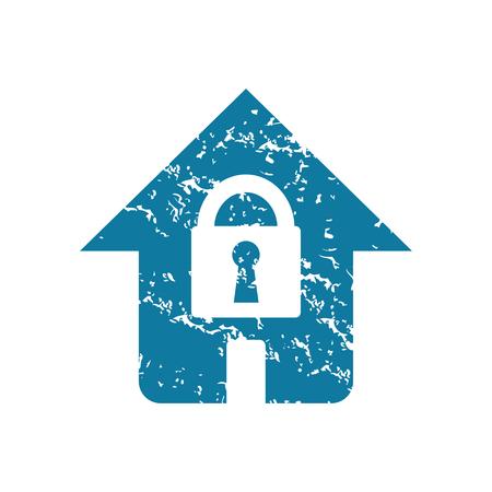 locked: Grunge locked house icon
