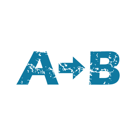 derivation: Grunge A to B icon