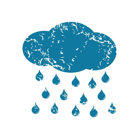 raining: Grunge raining icon