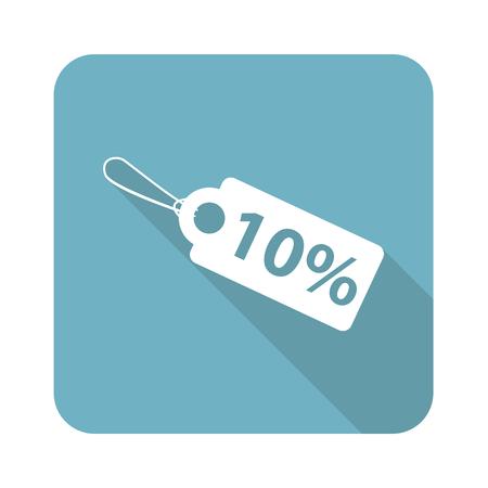 clip art cost: Square discount icon