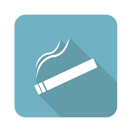 burning: Square burning cigarette icon Illustration
