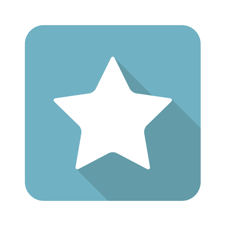 achievement clip art: Square star icon Illustration