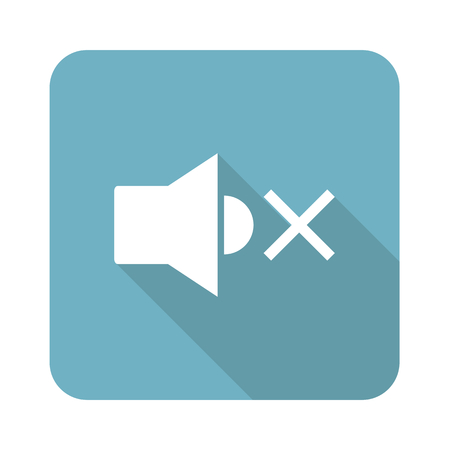 muted: Square muted loudspeaker icon Illustration