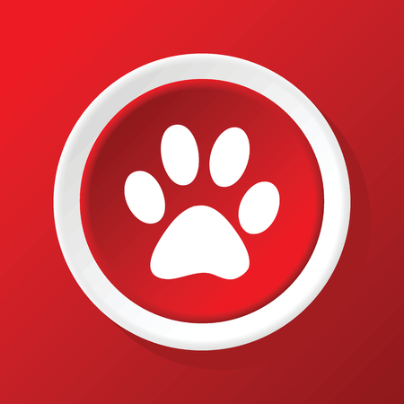 track pad: Paw icon on red Illustration