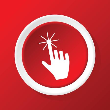 cursor: Hand cursor icon on red