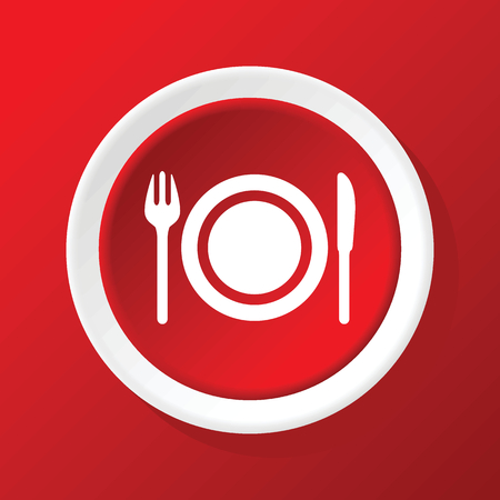 dishware: Dishware icon on red