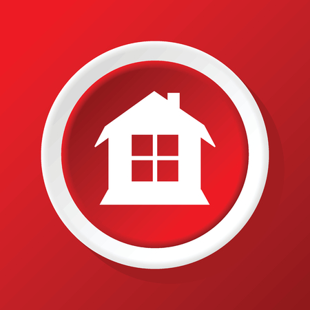 housetop: House icon on red