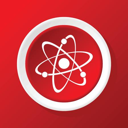 el atomo: Icono de Atom en rojo