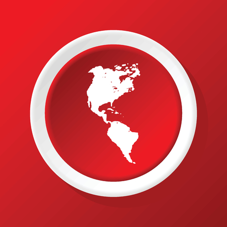 the continents: Continents icon on red