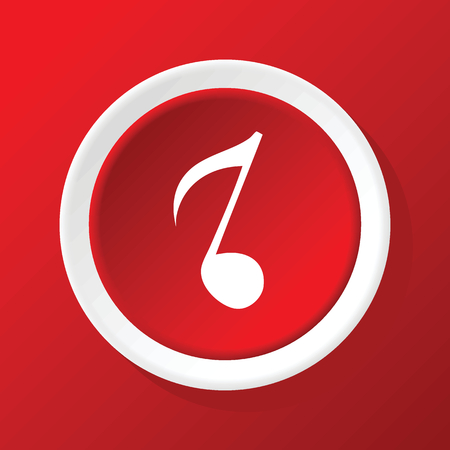 eighth: Eighth note icon on red