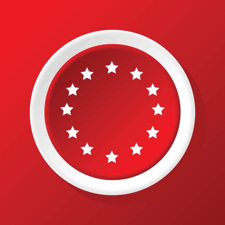 eu: EU symbol icon on red
