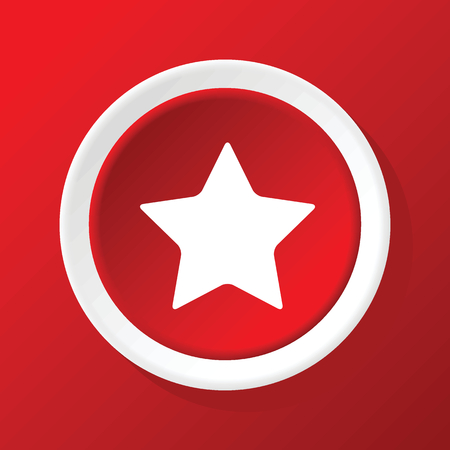 ideogram: Star icon on red