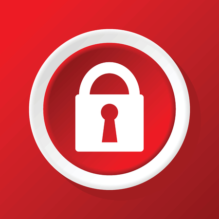 locked icon: Locked icon on red