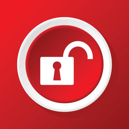 unlocked: Unlocked icon on red